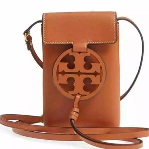 NWT Tory burch miller brown phone bag
